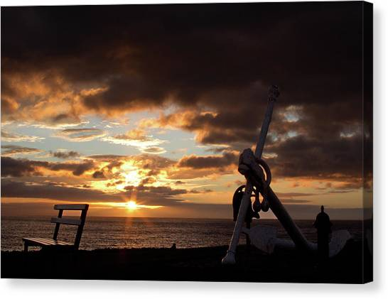Anchored To The View Canvas Print