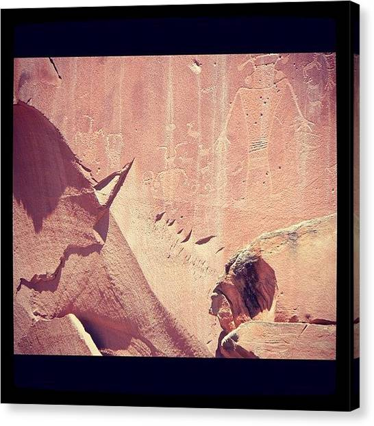 Indian Canvas Print - Ancient Artwork by Brian Turner