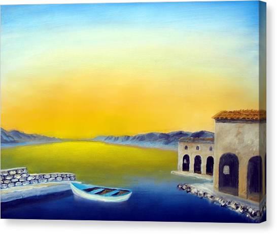 Ancient Fishing Village Canvas Print