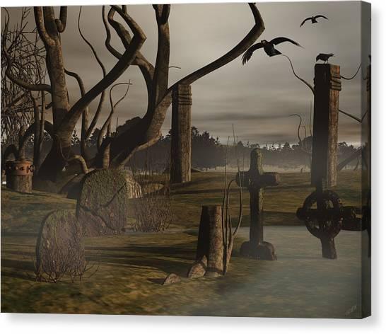 Ancient Graveyard Canvas Print by Tea Aira
