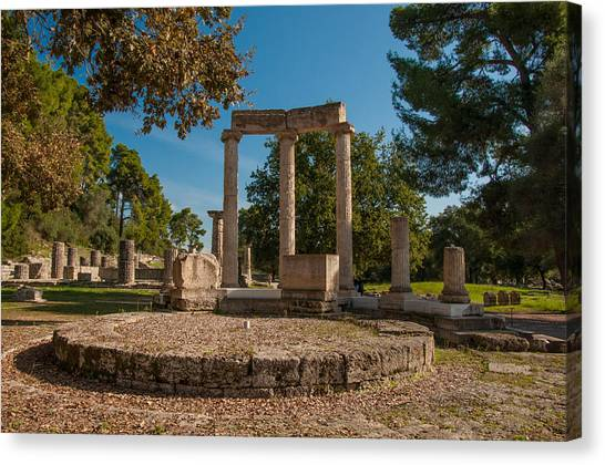 Ancient Olympia Greece Canvas Print