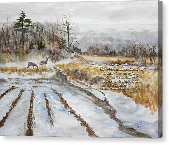 Ancient Path With Poem Canvas Print