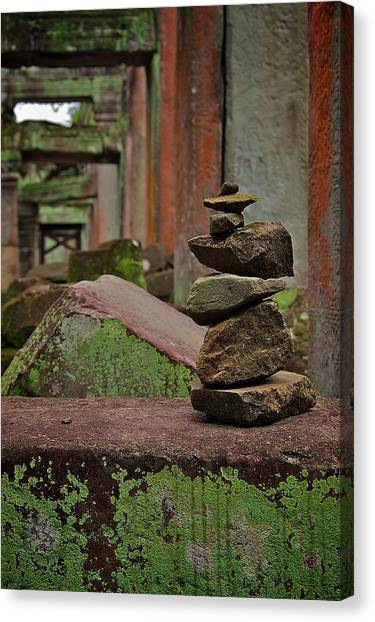 Ancient Rock Formation Canvas Print by Arj Munoz