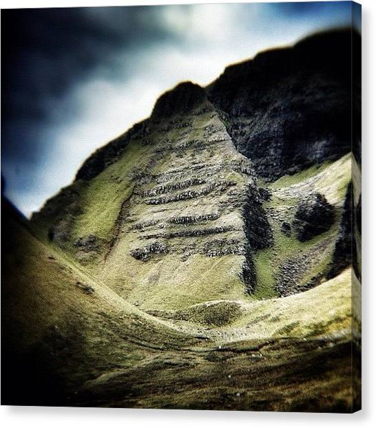 Geology Canvas Print - Ancient Valley.... #quiraing #mountains by Robert Campbell