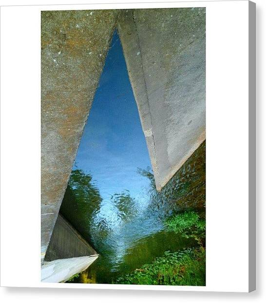 Triangles Canvas Print - And Now, A Random Shot Of The Water by Clifford McClure