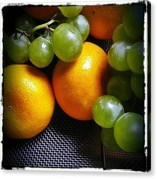 Grapes Canvas Print - And Now For Something Completely by Alexandra Cook
