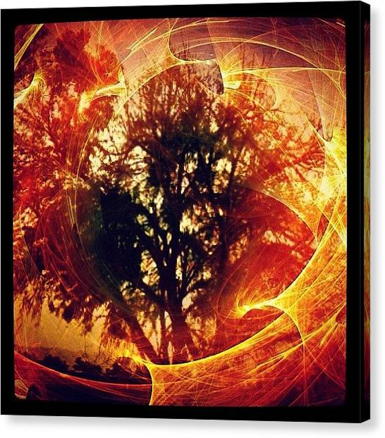 Flames Canvas Print - And The Angel Of The Lord Appeared To by Rick  Annette