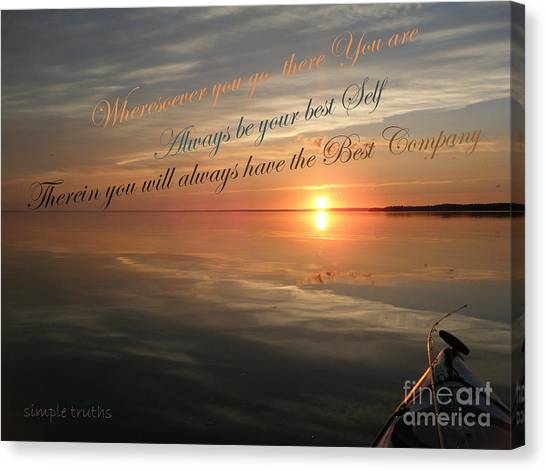 and there you Are Canvas Print