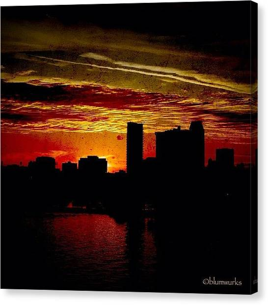 Architecture Canvas Print - And Yet Another Day Closes by Matthew Blum