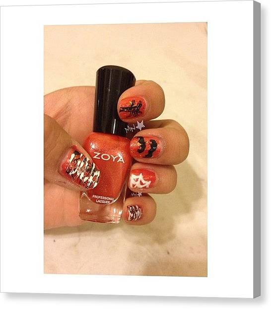 Bats Canvas Print - And You Thought I Wouldn't Post Nails by Maddy Nguyen