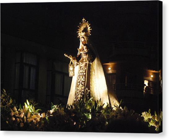 Andalusian Procession Canvas Print by Perry Van Munster