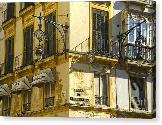 Andalusian Spanish Facade Canvas Print by Perry Van Munster