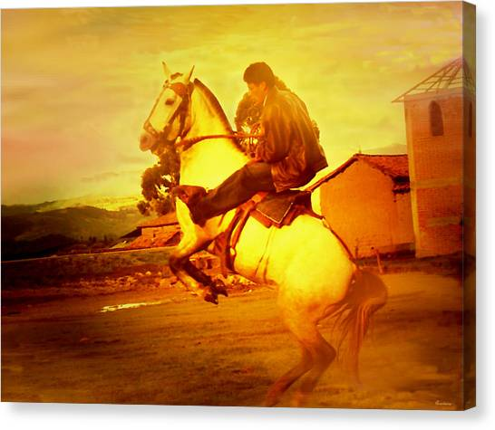 Andean Rearing Horse-cuzco Caballero IIi Canvas Print