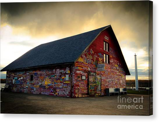 Anderson Barn At Dusk Canvas Print