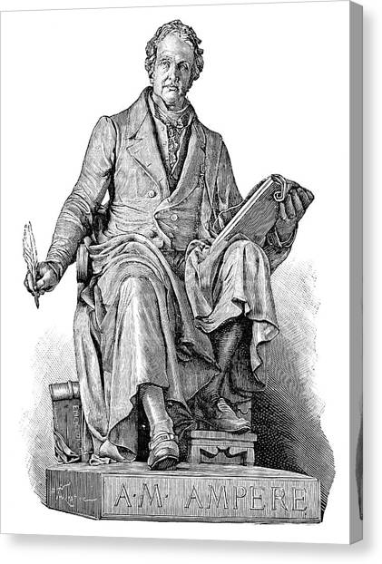 Andre-marie Ampere, French Physicist Canvas Print by