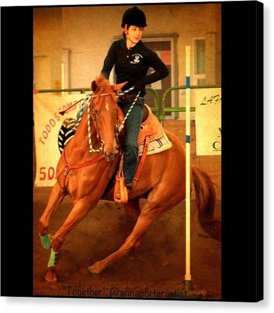 Athlete Canvas Print - Andy And Chrissy Turning #together by Anna Porter