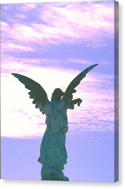 Angel In Sunset Canvas Print