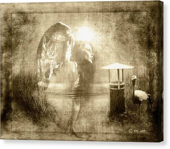 Angel Spirit Sepia Canvas Print