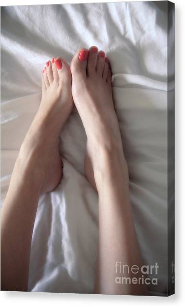 Angel Toes Canvas Print by Tos