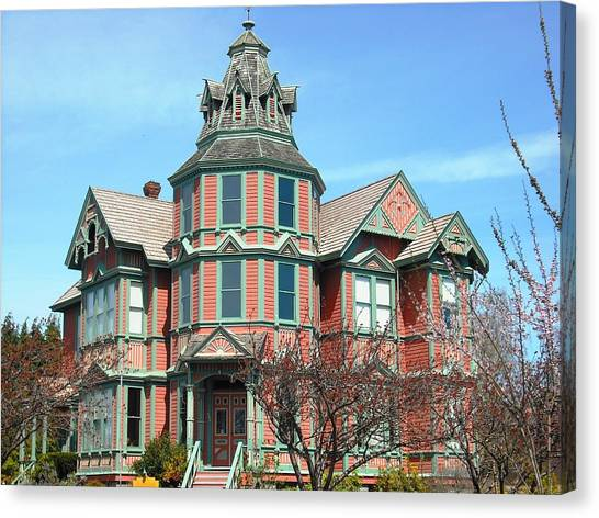 Ann Starrett Mansion Port Townsend Canvas Print