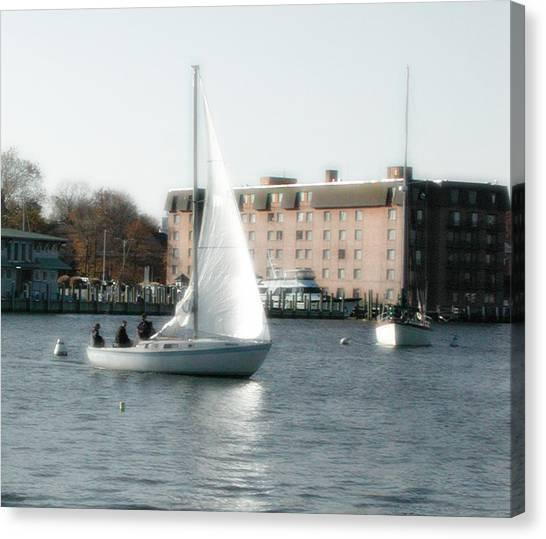 Annapolis Sail Boat Canvas Print