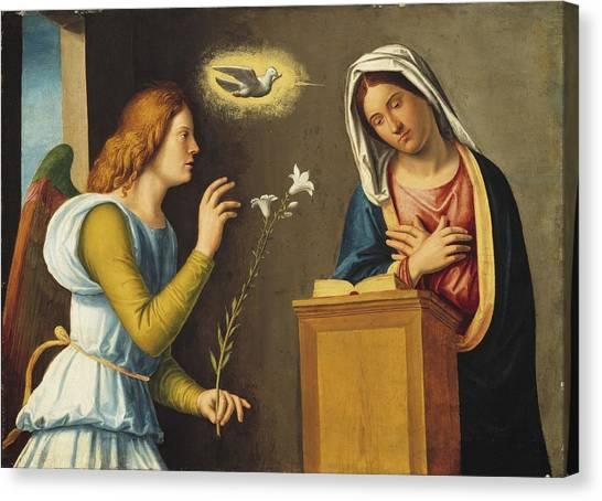 The Annunciation Canvas Print - Annunciation To The Virgin by Giovanni Battista Cima da Conegliano