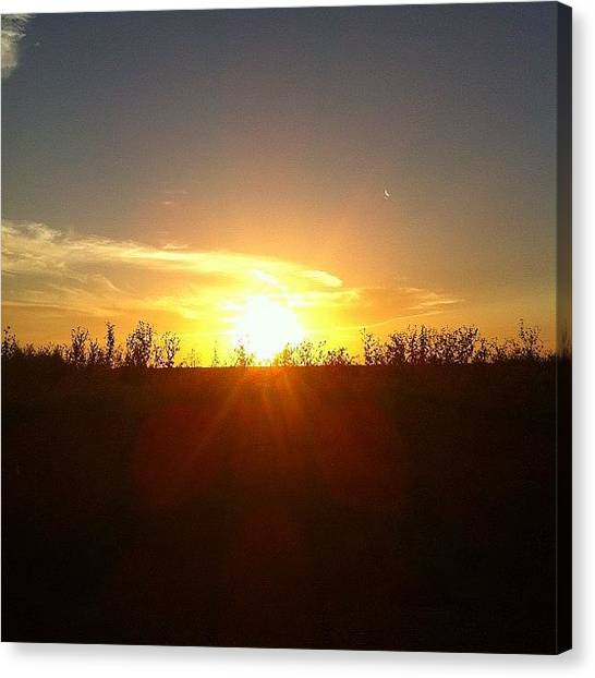 Sunset Horizon Canvas Print - Another Beautiful Sunset #sunset by Deb Lew