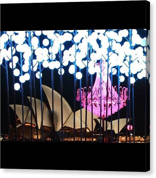 Australian Canvas Print - Another Capture From Vivid Festival by Sydney Australia