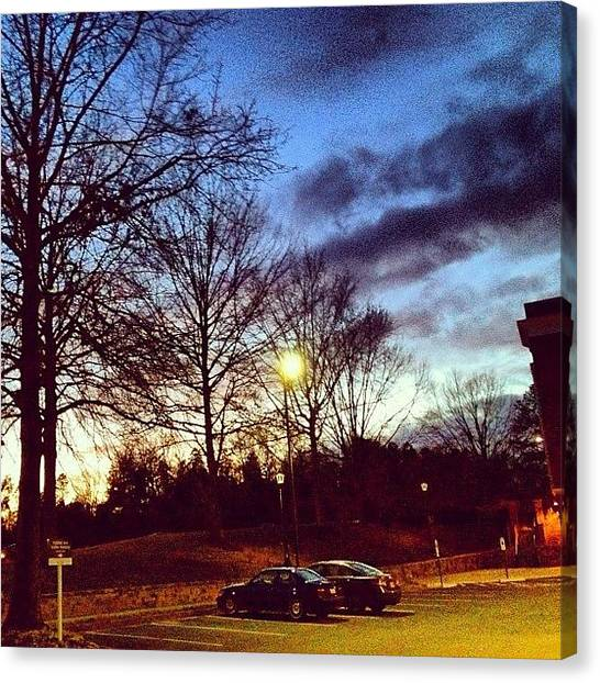 Virginia Canvas Print - Another #charlottesville #dusk Shot by Manan Shah
