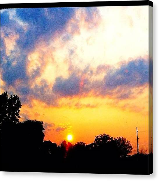 Pastel Canvas Print - Another #colorful #sunset On The Way by Joanna Dowdell