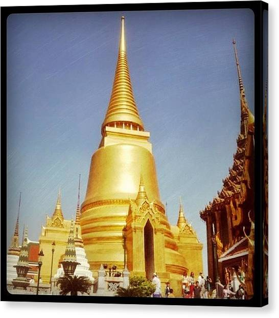 Temples Canvas Print - Another Day In Bangkok...have A Great by Cheerful D