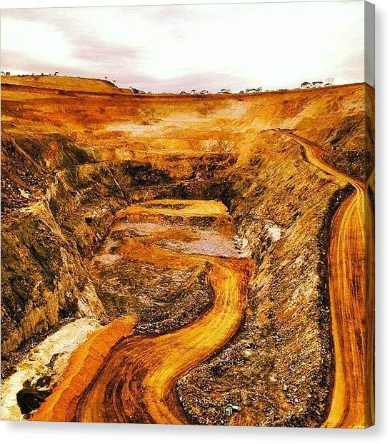 Environment Canvas Print - Another Gold Mine Another Day! by Josh Allsop