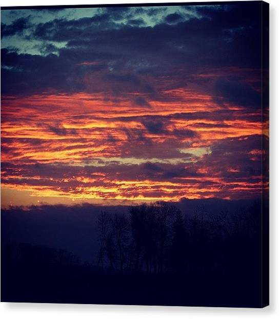 Thanksgiving Canvas Print - Another Gorgeous Sunset! Happy by Betsy B