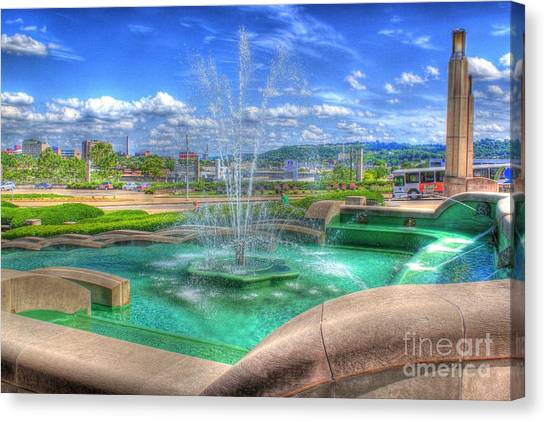 Another Photo Of Fountain At Cincinnati Museum Center Canvas Print