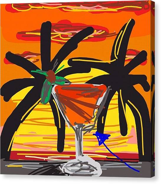 Martini Canvas Print - Another Quick Draw #drawing by Kidface Anbessa-Ebanks