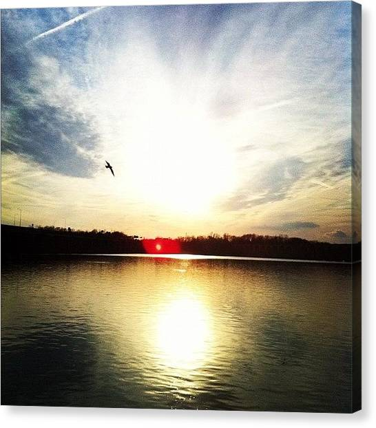 Flying Canvas Print - Another Susquehanna River Sunset. #susk by Jordan Roberts