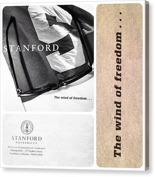 Stanford University Canvas Print - 📚another Top College Choice by Javarius Jones