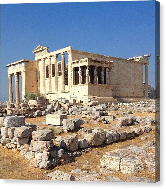 The Acropolis Canvas Print - Another View Of The Erechteion by Dimitre Mihaylov