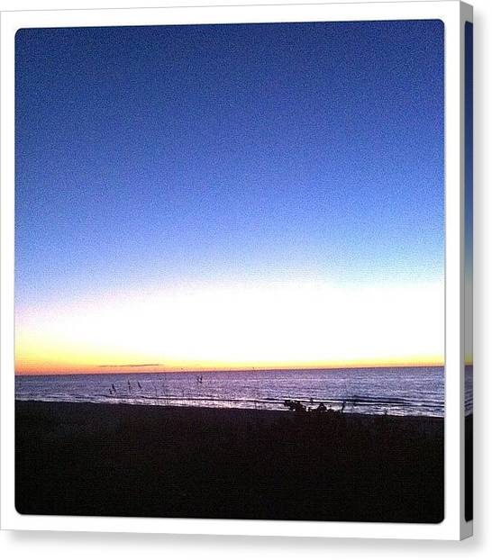 Baby Canvas Print - #anothersunset #evening #beach #cold by Amber Baby