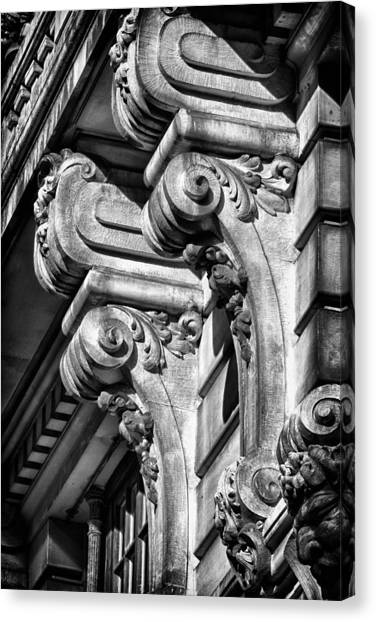 Ansonia Building Detail 18 Canvas Print by Val Black Russian Tourchin