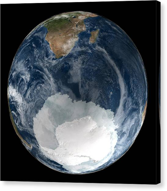 Antarctic Ice Sheet Maximum, 2005 Canvas Print by Nsidcnasa