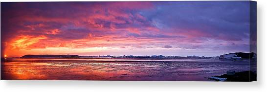 Antarctic Sunset Canvas Print by David Barringhaus