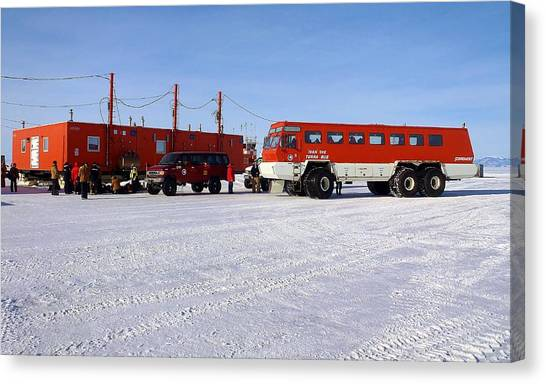 Antarctic Tundra Bus Canvas Print by David Barringhaus
