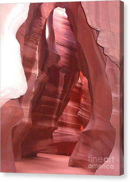 Antelope Slot Canyon View Just Inside Entrance Canvas Print by Merton Allen