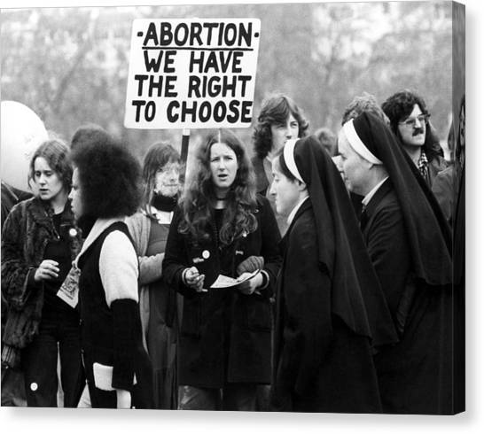 Abortion Canvas Print - Anti-abortion Rally And Counter-rally by Everett