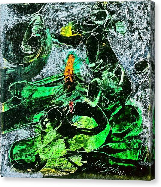 Antibodies In Another Green World Canvas Print by Cliff Spohn