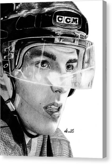 Vancouver Canucks Canvas Print - Anticipation by Kayleigh Semeniuk