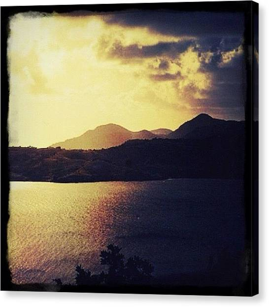 Ocean Sunsets Canvas Print - Antigua At Dusk by Natasha Marco