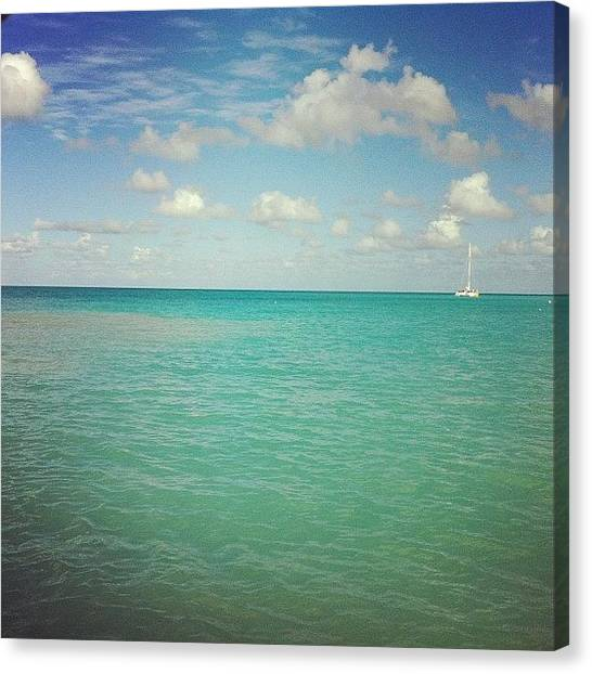 Sailboats Canvas Print - Antigua At Noontime by Sandy B