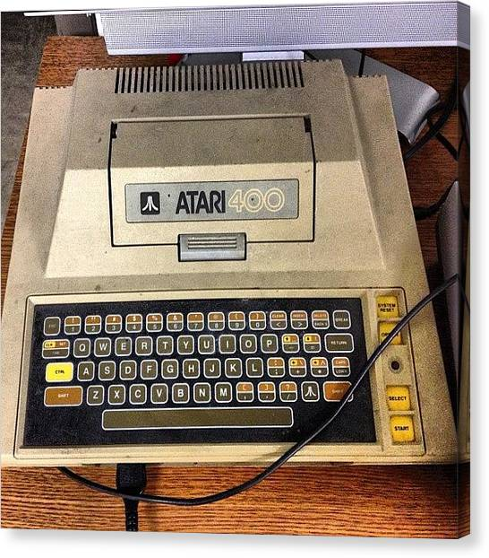 Atari Canvas Print - #antique #atari 400 #computer At by Simon Prickett